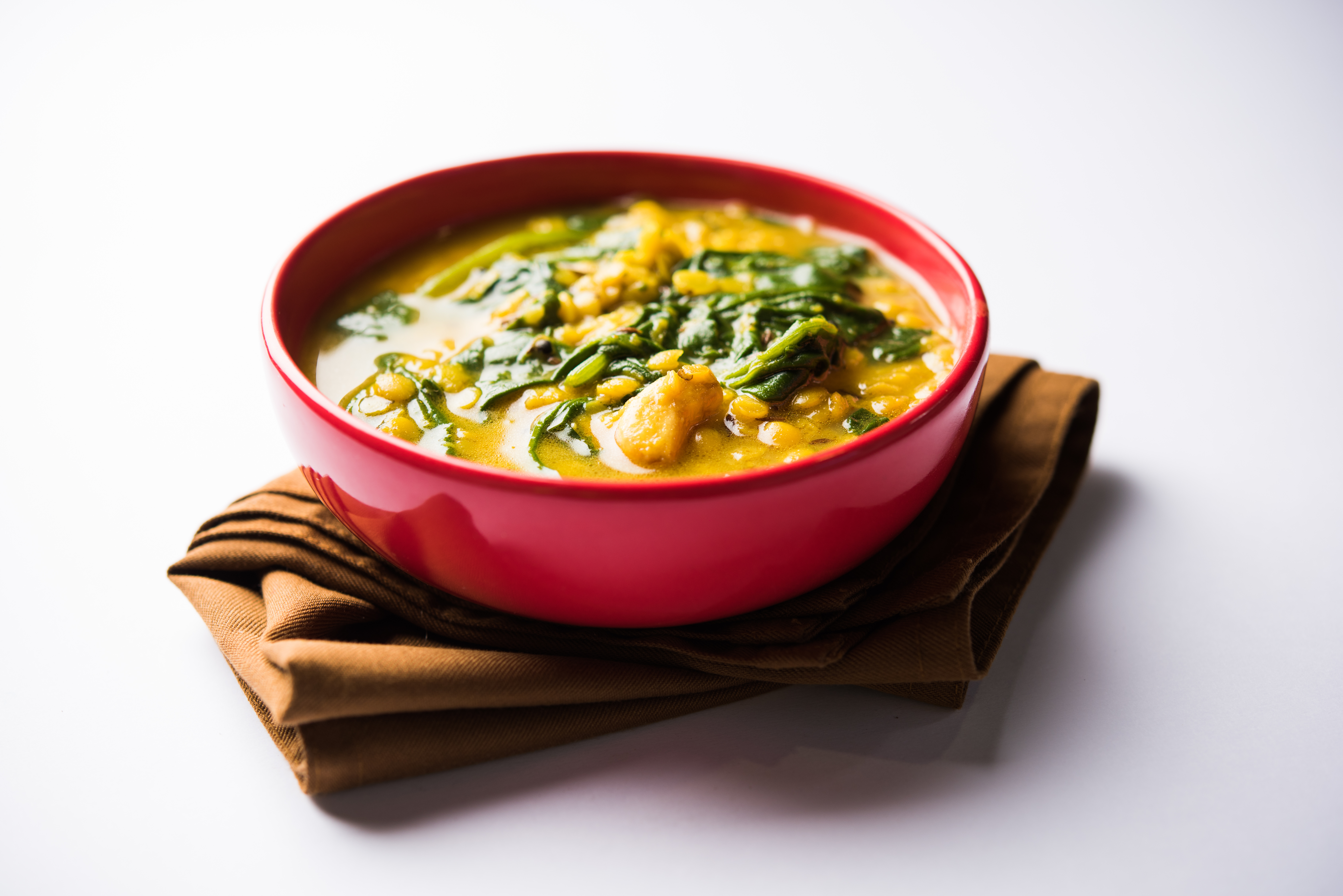 curried spinach and lentil soup