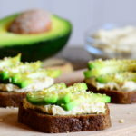 Chickpeas, Cottage Cheese & Avocado on Rye