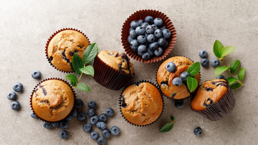 berry and coconut muffin